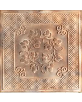 Plastic Ceiling tiles Faux tin washed brown color PL66 10pcs/lot