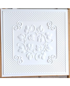 Drop in Ceiling tiles Faux Tin white matt color PL66 pack of 10pcs