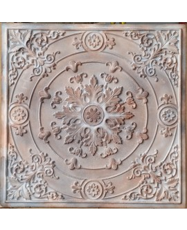 Faux Tin ceiling tiles aged washing brown color PL18 pack of 10pcs