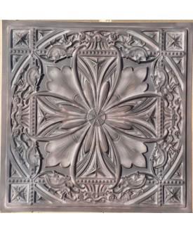 Tin ceiling tile false paint old wood gray PL10 pack of 10pcs
