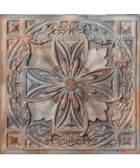 Plastic Ceiling tiles Faux tin washed brown color PL10 10pcs/lot