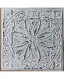 Ceiling tiles Faux Tin distress crack white black color PL10 pack of 10pcs