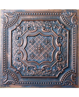 Faux Tin ceiling tiles 3D embossing Aged red copper PL04 pack of 10pcs
