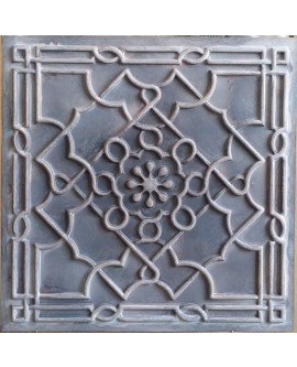 Tin ceiling tiles artistic old wood gray color cafe club wall panel PL09 pack of 10pcs