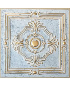ceiling tiles 2x2 Faux tin paint aged white gold color PL38 pack of 10pcs