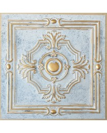ceiling tiles 2x2 Faux tin paint aged white gold color PL38 pack of 10pcs