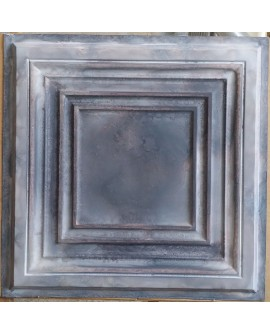 Tin ceiling tiles embossed cafe club old wood gray wall panel PL05 pack of 10pcs