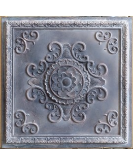 Tin ceiling tiles embossed cafe club old wood gray wall panel PL08 pack of 10pcs
