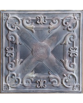 Tin ceiling tiles artistic old wood gray color cafe club wall panel PL22 pack of 10pcs